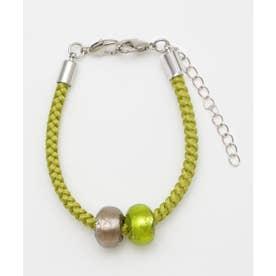 【カヤ】ガラス玉羽織留め ブレスレット ライトグリーン