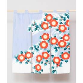 【カヤ】和の花 情景中暖簾 ライトブルー