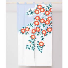 【カヤ】和の花 情景長暖簾 ライトブルー