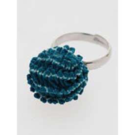 【カヤ】正絹 絞り染めリング ブルー
