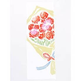 【カヤ】注染手ぬぐい カーネーションの花束 ホワイト×レッド