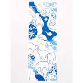 【カヤ】注染手ぬぐい 白くま ホワイト×ブルー