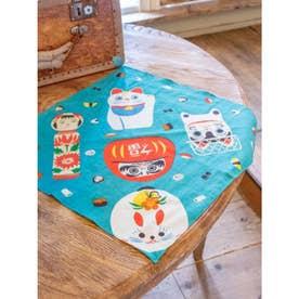 【カヤ】折り包み小風呂敷 日本の民芸 ブルー
