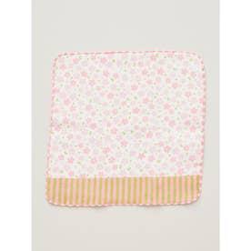 【カヤ】ふんわりやわらか 無撚糸パイルガーゼ きよらタオルハンカチ 桜 ピンク