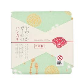 【カヤ】japanese style やわらかガーゼのハンカチ たんぽぽとつくし その他