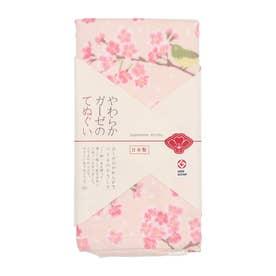 【カヤ】japanese style やわらかガーゼのてぬぐい 花とメジロ その他
