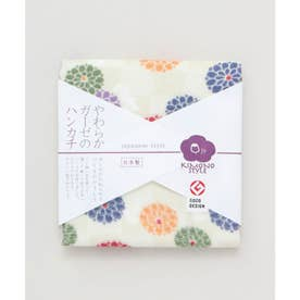 【カヤ】japanese style やわらかガーゼのハンカチ 小紋菊 その他1