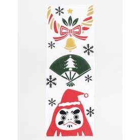 【カヤ】注染手ぬぐい 和クリスマス ホワイト×レッド