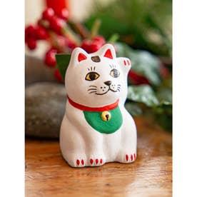 【カヤ】民芸陶器みくじ 招き猫 ホワイト
