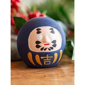 【カヤ】民芸陶器みくじ 達磨 ブルー