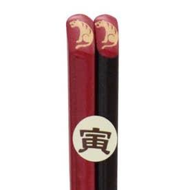 【カヤ】福井 若狭塗(わかさぬり)十二支 縁起干支箸 赤 その他13