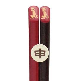 【カヤ】福井 若狭塗(わかさぬり)十二支 縁起干支箸 赤 その他19