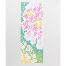 【カヤ】注染手ぬぐい しだれ桜 ライトグリーン