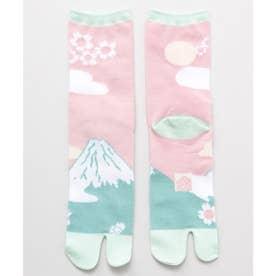【カヤ】足袋型くつ下23-25cm 富士桜 桜