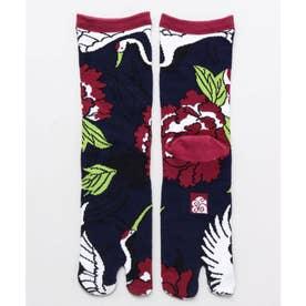 【カヤ】足袋型くつ下23-25cm 鶴牡丹 マルチ