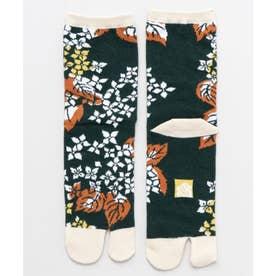 【カヤ】足袋型くつ下23-25cm 雨あがり グリーン