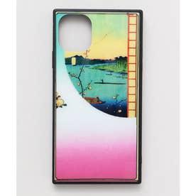 【カヤ】iPhone11 ガラス製スマホケース 和モダン柄スマホくるみ その他11
