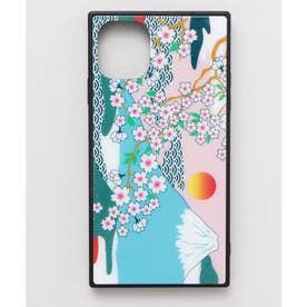 【カヤ】iPhone11 ガラス製スマホケース 和モダン柄スマホくるみ その他15