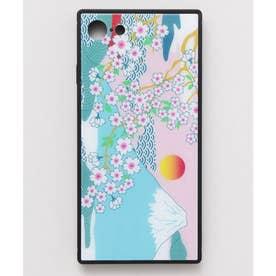 【カヤ】iPhone SE/8/7兼用ガラス製スマホケース 和モダン柄スマホくるみ その他30