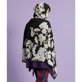 【カヤ】桜頭巾ストール UVカット加工 スミクロ