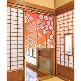 【カヤ】浮世ぼかし中暖簾 レッド