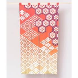 【カヤ】浮世ぼかし長暖簾 レッド