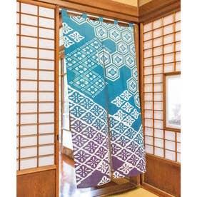 【カヤ】浮世ぼかし長暖簾 ブルー