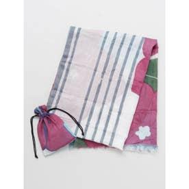 【カヤ】桔梗ストール 巾着セット ホワイト