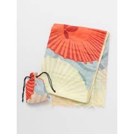【カヤ】大菊ストール 巾着セット ブルー