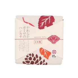 【カヤ】japanese style やわらかガーゼのハンカチ 松ぼっくり その他