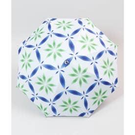 【カヤ】和の赴き傘 雪花日傘 晴雨兼用 ブルーグリーン