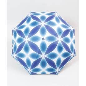 【カヤ】和の赴き傘 雪花日傘 晴雨兼用 ネイビー