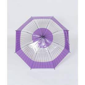 【カヤ】和の赴き傘 蛇の目 透明傘 パープル系その他