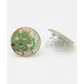 【カヤ】手毬イヤリング 麻の葉 グリーン