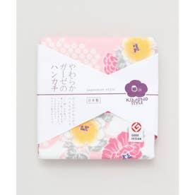 【カヤ】japanese style やわらかガーゼのハンカチ 花霞 ピンク
