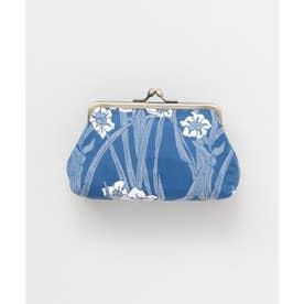 【カヤ】四季ふくれ織り マルチがま口 ブルー