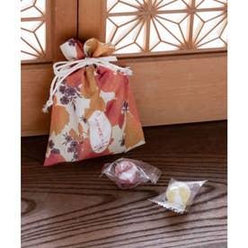 【カヤ】秋の巾着 小 オレンジ系その他