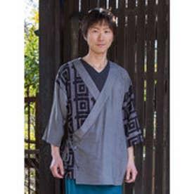 【カヤ】紋継ぎ羽織り メンズ グレー