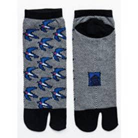 【カヤ】夏色鹿の子編み 足袋くつ下25?28cm ブラック×ブルー