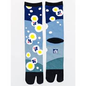 【カヤ】水辺の蛍 足袋くつ下25?28cm ブルー系その他