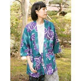 【カヤ】和ててこメンズ羽織り ブルー