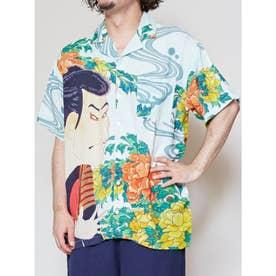 【カヤ】浮世絵メンズシャツ ホワイト