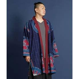 【カヤ】片喰ノ紋メンズ羽織り ネイビー