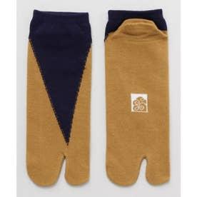 【カヤ】足袋型くつ下 25~28cm 重ね色 マスタード