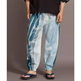【カヤ】夕涼み もんぺ風メンズパンツ ブルー