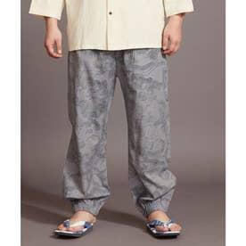 【カヤ】夕涼み もんぺ風メンズパンツ グレー