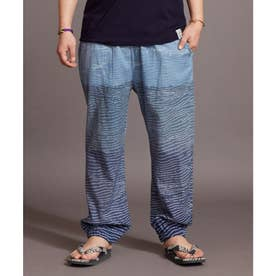 【カヤ】夕涼み もんぺ風メンズパンツ ネイビー
