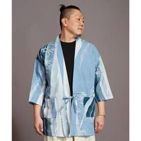【カヤ】夕涼みメンズ羽織 ブルー