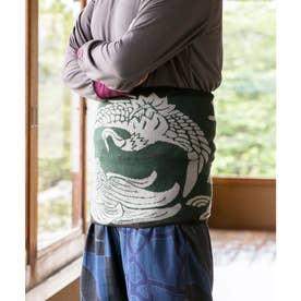【カヤ】鶴亀腹巻きLサイズ グリーン系その他
