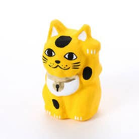 【カヤ】豆招き猫 無地 イエロー